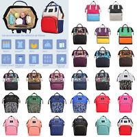 Baby Diaper Bag Waterproof Mummy Maternity Nappy Travel Backpack Handbag Fashion