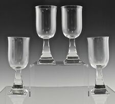 "RARE BACCARAT CRYSTAL MALADETTA AMERICAN 6 1/4"" WHITE WINE GLASSES SET OF 4"