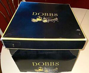 Vintage Men's DOBBS FEDORA Hat Dark Brown Felt Swing 7 1/4 Hatbox