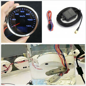 Waterproof 8 Colors Backlight 85mm GPS Speed Mileometer Odometer Gauge 0~120km/h