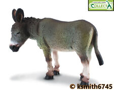 CollectA GREY DONKEY solid plastic toy farm pet animal mule ass * NEW 💥