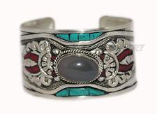 Turquoise Bracelet cuff Bracelet Silver Bracelet Boho Bracelet Quartz Bracelet
