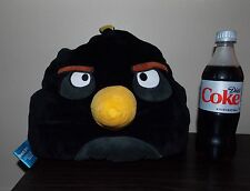 "12"" Angry Birds  Large Black Plush, Stuffed Animal, Plush Microbead Pillow"