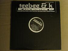 DJ TEEBEE & K BLACKSCIENCE EP 2LP '00 LIMITED DRUM N BASS ELECTRO FUNK FUTURE NM