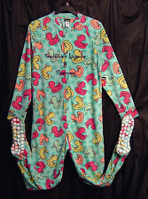 JOE BOXER DUCKS ADULT FLEECE ONE PIECE ONESY FOOTED FOOTIE PAJAMAS~L~NEW