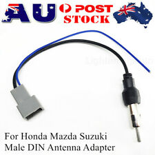 Antenna Adapter Aerial Aux Male DIN Plug Cable Connector For Honda Mazda Suzuki