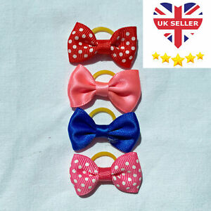 Cute Cat Dog Puppy Hair Bows Clips Beauty Pet Grooming Accessories UK Seller