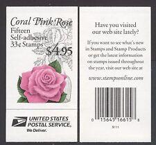 """STATI UNITI - Libretto Adesivo - 1999 - Copertina """"Rosa"""" - Libretto da $ 4,95"""