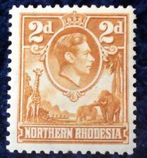 Northern Rhodesia George VI 1 2d definitive SG 31 mounted mint C/V £50 in 2016