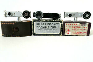 VINTAGE RANGEFINDERS IN BOXES/CASE for Diplay purposes only