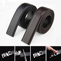Men's Belts Genuine Leather Automatic Buckle Waist Strap Waistband Black/Brown
