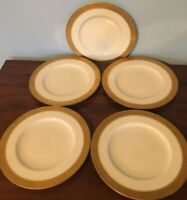 5 Royal Worcester Bone China Gold Encrusted Plates