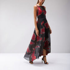 New COAST Isla Red Black Cocktail Evening Maxi Dress Ball Gown Size 12 BNWT £195