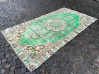 % 100 wool rug, Vintage from the 1950s, Carpet, Turkish large rug   5,3 x 9,4 ft