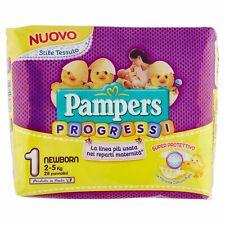 Pampers Progressi Windeln für Neugeborene, Größe 1 (2–5 kg), 2x 28 Windeln