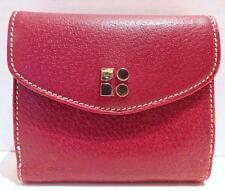 KATE SPADE Deep Red Leather Wallet Billfold Clutch
