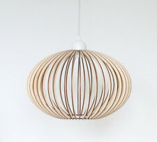 Wood Lamp / Wooden Lamp Shade / Hanging Lamp / Pendant Light / Ceiling Lamp