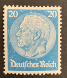 1933 Germany 20pf blue Hindenburg definitive Stamp MLH