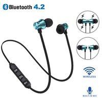 Bluetooth Wireless 4.2 Stereo Earphone Headset Magnetic In-Ear Earbuds Headphone