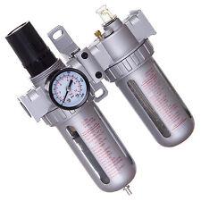 """1/2"""" Druckluft Wartungseinheit Öler Druckminderer für Kompressor 0,040 Filterung"""
