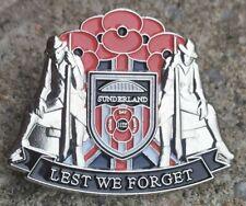 rare sunderland football club loyalist poppy badge
