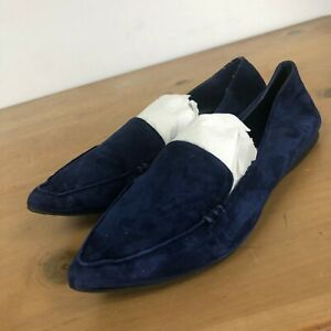 STEVE MADDEN Feather Loafer Flat Purple Suede 6M