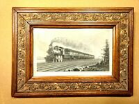 19 Century Engraved Print by John A Lowell Co. Steam Engine Passenger
