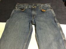 Carhartt mens size 34x31 relaxed fit denim blue jeans wash A41-7