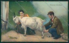 Palermo Costumi Siciliani Capra cartolina QQ0802