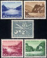 Switzerland 1956 Pro Patria Fund/Lakes/Rivers/Nature/Tourism 5v set (ch1023)