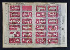 1934 New York City Map East Side Central Park 89-95th Park Madison 5th Avenue
