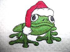 Christmas Tree Frog, Embroidered Towel,100% Cotton