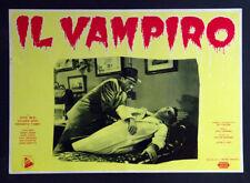"CINEMA-fotobusta IL VAMPIRO ""The Vampire"" beal, gray, tobey, LANDRES"