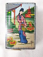 Japanese Geisha Girl Playing Cards with 1940's US Treasury Tax Stamp A.P.C. Co