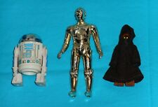 vintage STAR WARS FIGURE LOT #180 Jawa C-3PO See-Threepio R2-D2 Artoo-Detoo