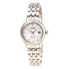 Citizen EW2390-50D Eco-drive Acero Pulsera Reloj De Mujer Diamante Mop Dial