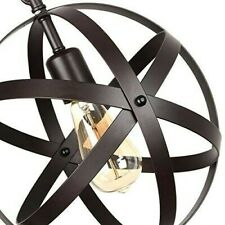 Creatgeek Idustrial Globe Chandalier with Hanging Plug In Cord