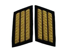 Collar Insignias pair, black back ground, 3 Gold Bar, American Civil War, New