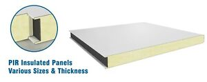 Cold Room Smooth Insulated Panels,1000mm Width- 2400mm Length- 80mm Thickness