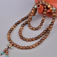 1pc 6mm 108 Wenge Prayer Beads Turquoise Tibetan Buddhist Mala Buddha Bracelet