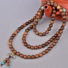 1pc 6mm 108 Wenge Prayer Beads Turquoise Tibetan Buddhist Mala Buddha Bracelet