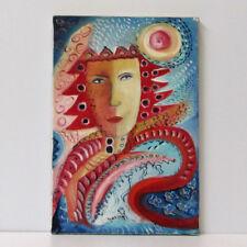 "MARIA MURGIA - ""Uomo moderno"" - Olio su tela cm 30x20  + ARCHIVIO"