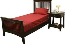 Twin Mission Merlot Bed Perfect for Student Bedrooms and Dorm Rooms