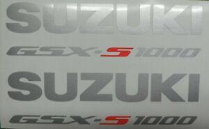 SUZUKI GSX-S 1000 Aufkleber TOP NEU Silber Met./Rot