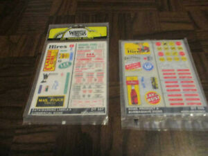 Woodland Scenics DT555 and DT557 Dry Transfer Decals