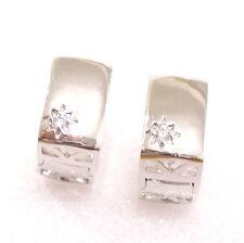 fashion1uk Diamante Sintético Bañado En Oro Blanco Pendientes De  Mujer