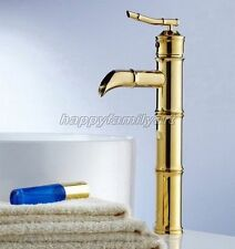 Single Lever Gold Bathroom Taps