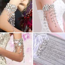 New Bridal Crystal Arm Bracelet Tassels Dangle Ribbon Rhinestone Armlet Bracelet