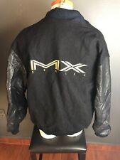 Vintage Magnavox Mx Series Varsity Leather Wool Jacket XL RARE!