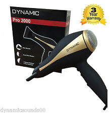 Dynamic Pro 2000 Ionic Hair Dryer 2000 Watt 2 Speed Settings, 3 Heat Settings